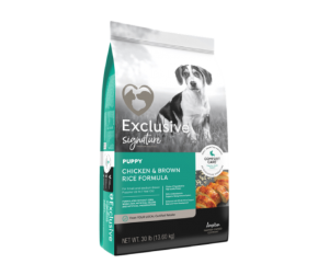 Exclusive® Signature Puppy Food Chicken & Brown Rice formula