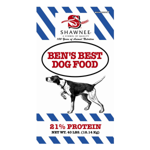 a bag of Ben's Best 21% Protein dog food
