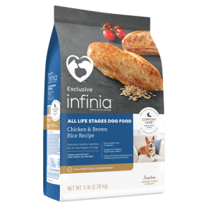 Infinia All Life Stages Chicken and Brown Rice Dry Dog Food