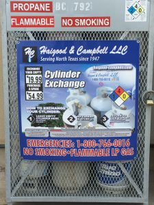 Propane Tank Exchange & Purchase at Berend Bros. in Wichita Falls, Windthorst, and Megargel, Texas.