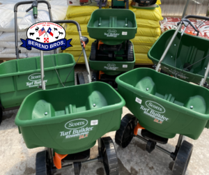 Save 10% off fertilizer and seed spreaders, in September at Berend Bros.