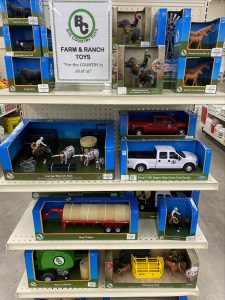 Big Country Toys are 15% off in December 2020 at Berend Bros. in Bowie and Wichita Falls, Texas.
