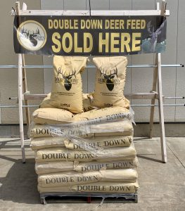 Double Down Deer Feed now at Berend Bros. in Wichita Falls, Olney, Windthorst, and Bowie, Texas.